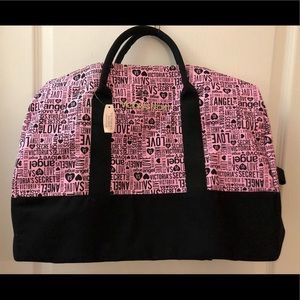 Victoria's Secret Pink+black L Canvas Travel Bag